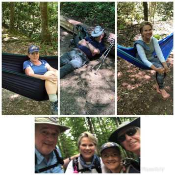 Happy hammocking with Hank and Margaret